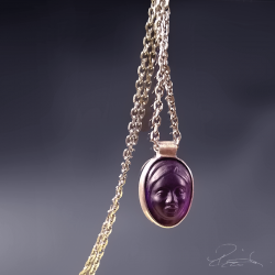 Woman in Amethyst Glyptic