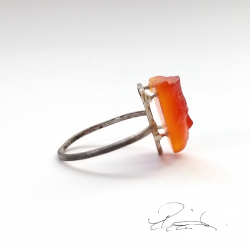 Carnelian Glyptic Face on...